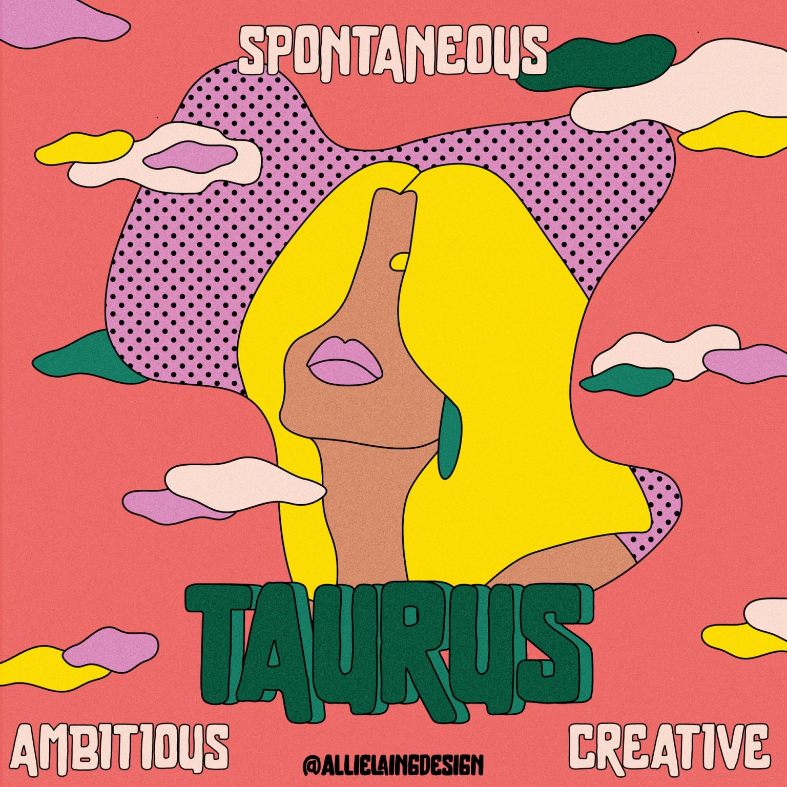 taurus astrology sign stickers